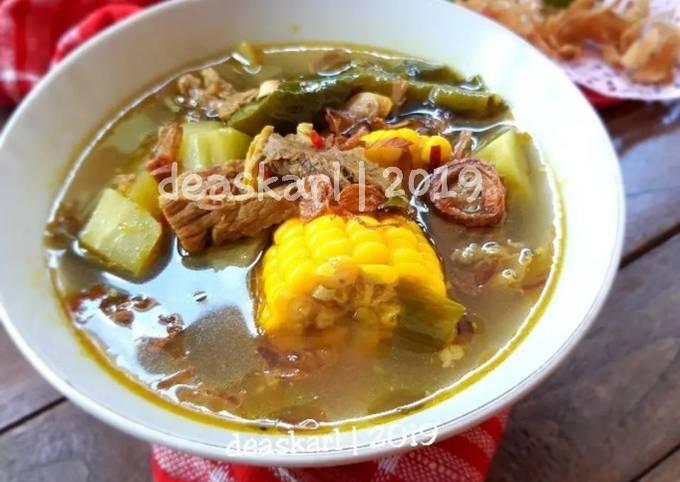 sayur asem goreng (sayur asem betawi daging sapi) - resepenakbgt.com