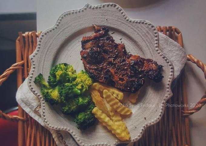 Lamb chop super easy