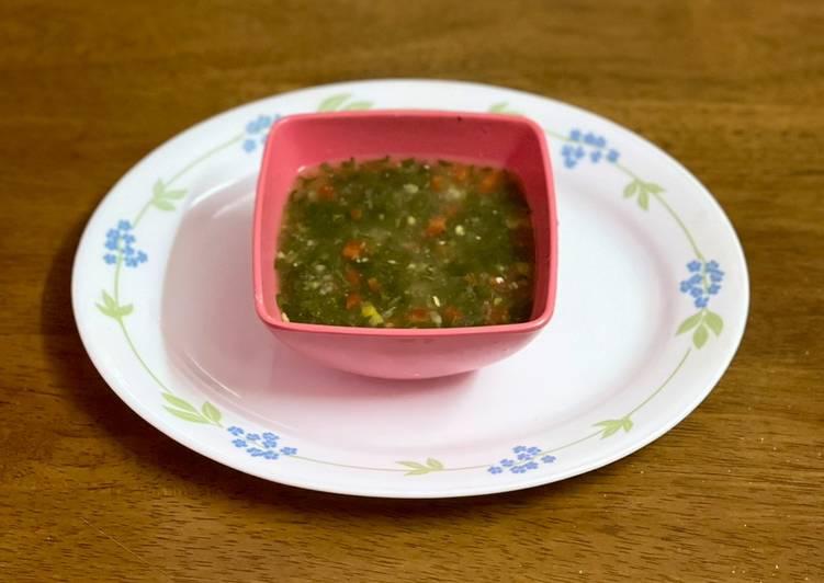 Steps to Make Homemade Lemon coriander soup