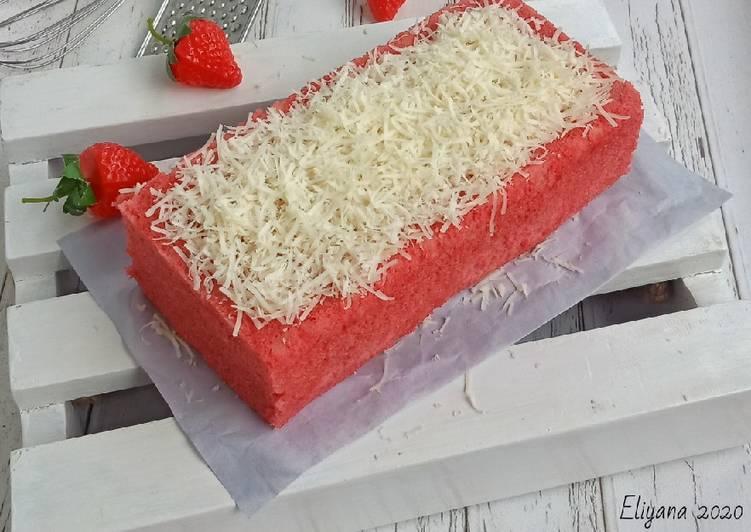 Bolu susu strawberry keju