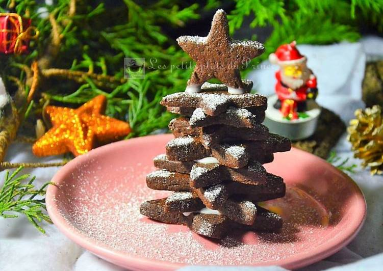 Sapin de Noël en sablés chocolat orange