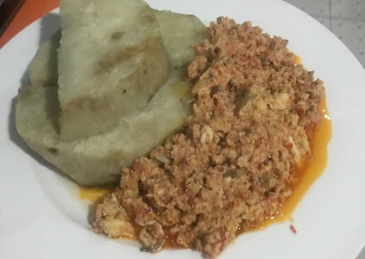 30 Minute Easiest Way to Prepare Super Quick Homemade Boiled Yam and Egg Sauce