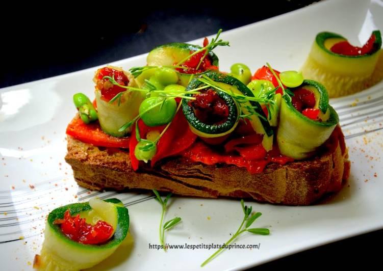 Tartine simple autour du poivron rouge