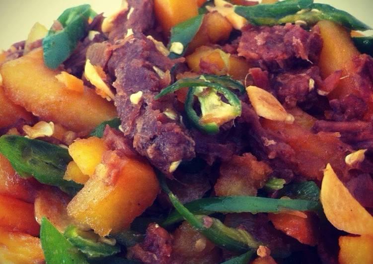 Tumis Daging-Kentang (Beef Potato teriyaki)