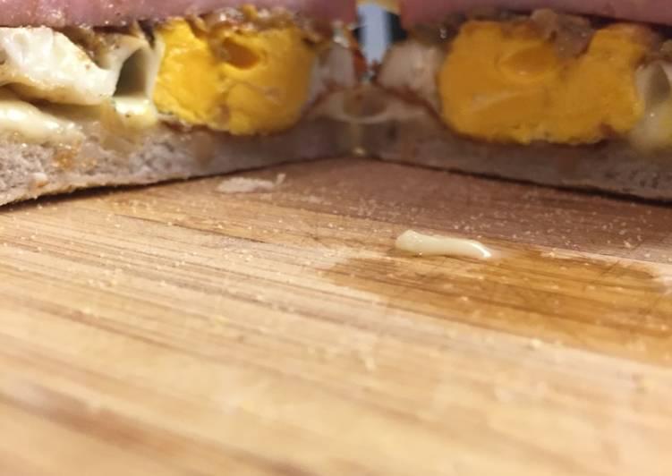 Simple Way to Prepare Favorite Egg ham & cheese muffin