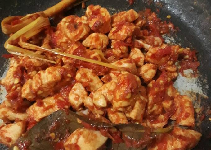 Ayam Balado Favorit (Tanpa minyak & Gula) Menu Diet
