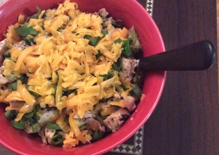 Chicken, broccoli, cheese & rice