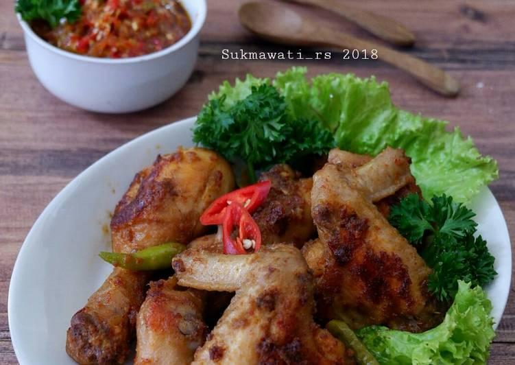 Ayam Panggang Bumbu Rujak dengan Sambal Kecombrang
