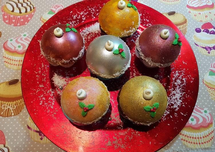 Cupcakes Decorados Con Esferas De Navideñas Receta De