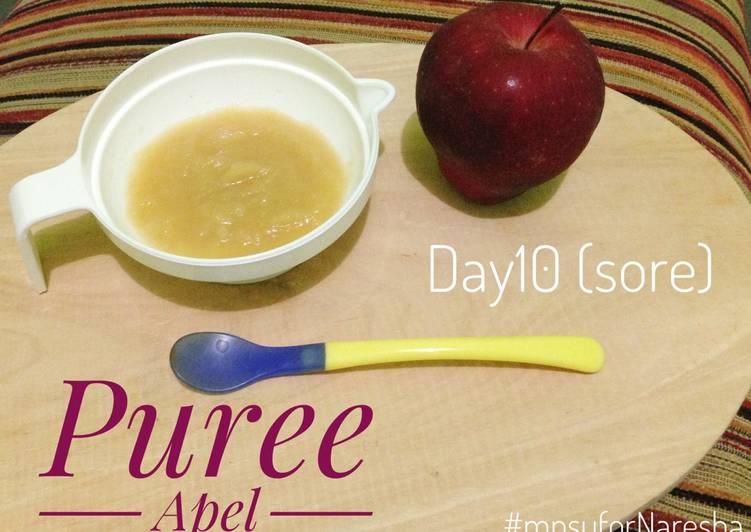 Puree Apel (menu tunggal 6m) MPASI