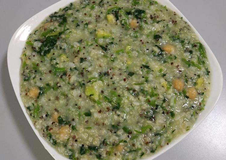 Steps to Make Award-winning Five Grains Avocado Porridge with Watercress 西洋菜鳄梨五谷粥