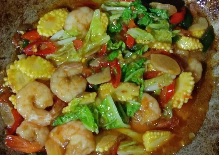 Udang putren(jagung muda) pedas manis