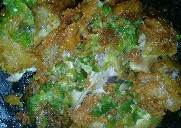 Ayam Geprek Lombok Hijau