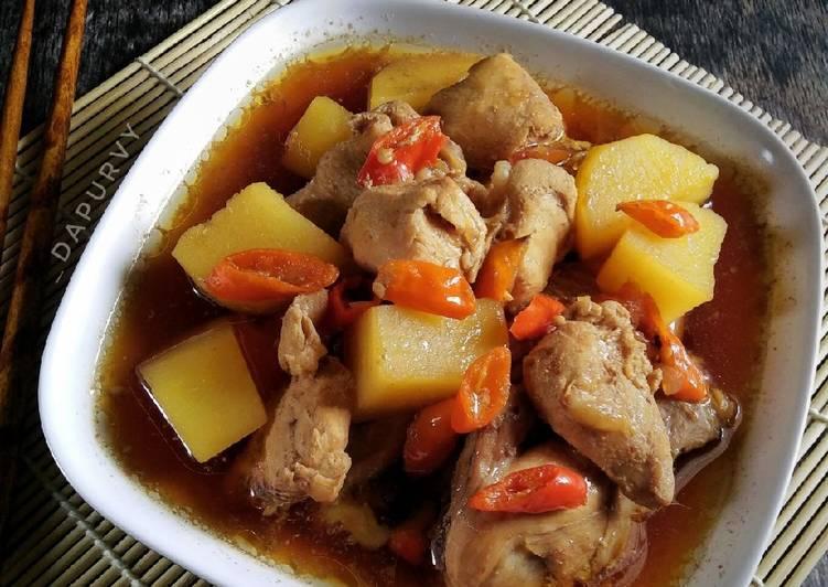 Resep AYAM KUAH KECAP Oriental Yang Gampang Enak