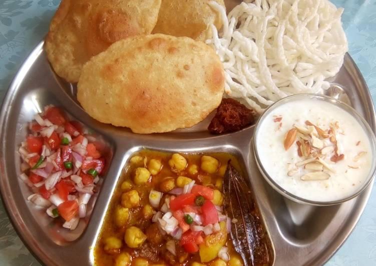North Indian breakfast thali