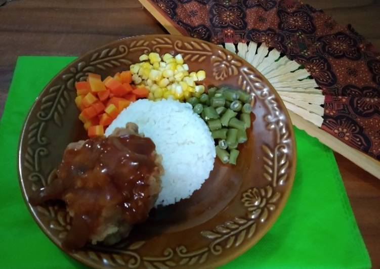 Chicken Steak Crispy With Vegetable