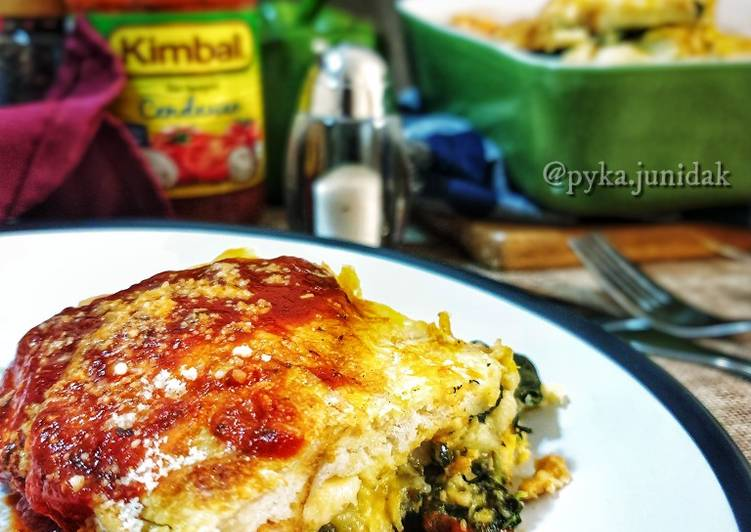 Strata Roti bersama ayam dan bayam (BREAD STRATA) #breadbonus - velavinkabakery.com