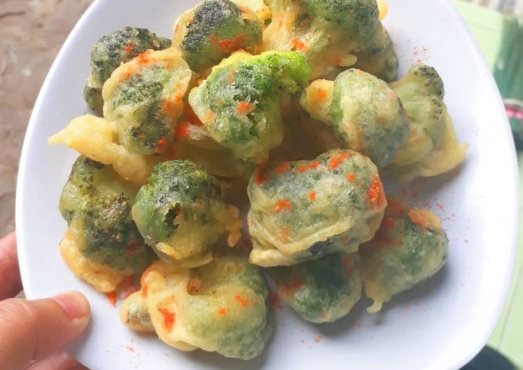 Brokoli tepung renyah
