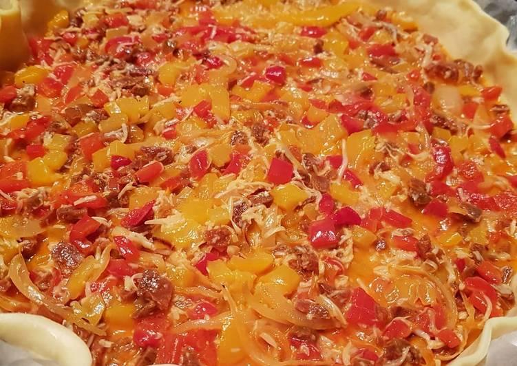 Tarte poivron-chorizo