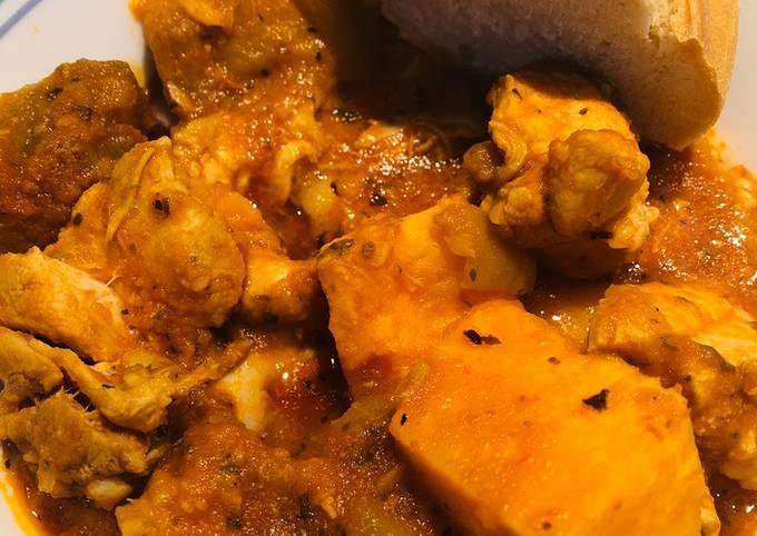 Crockpot Saucy Veggie Chicken Stew 🍲
