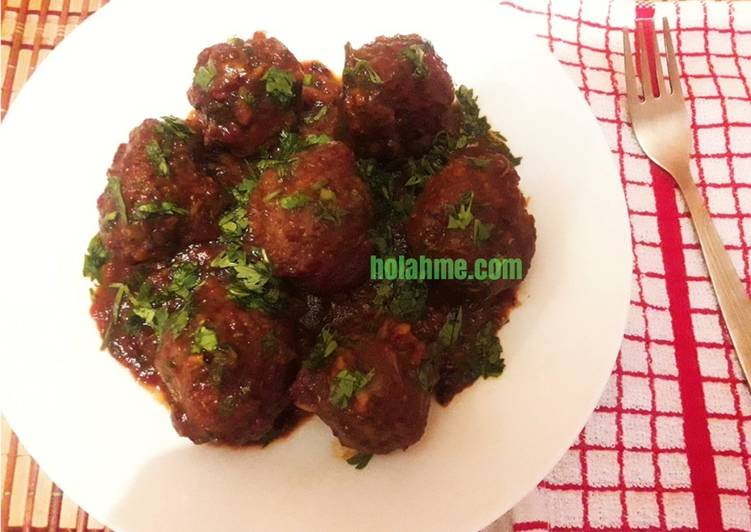 Barbecue Meatballs #Idulfitrirecipescontest #4weekschallenge