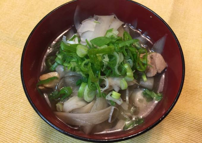 Japanese mushroom and chicken soup