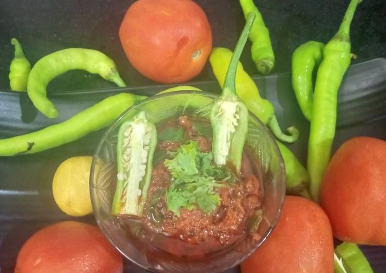 Steps to Prepare Ultimate Spicy Tomato chutney