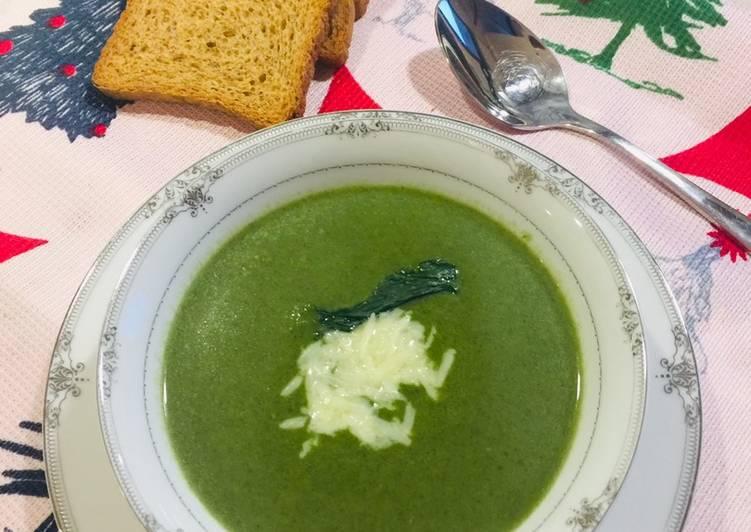 Recette Parfait Une bonne soupe aux épinards 👌👌