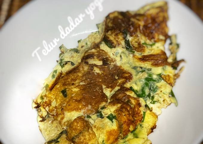 Telur dadar beryogurt