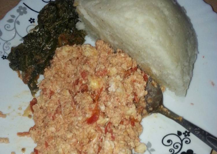 Recipe of Quick Beaten eggs with ugali