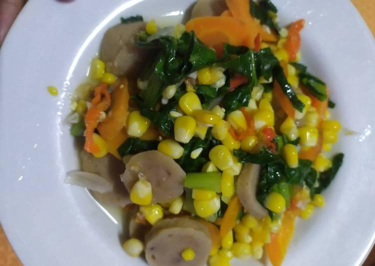 Tumis bakso sapi mix sayur
