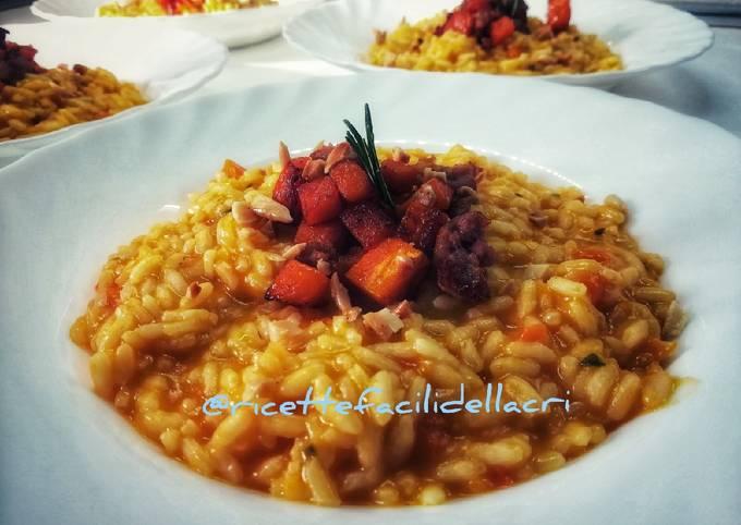 How to Cook Yummy Risotto con zucca, salsiccia e mandorle
