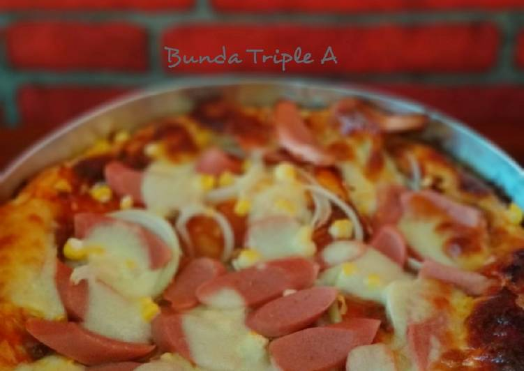 Pizza with saos bolognese homemade 🍕