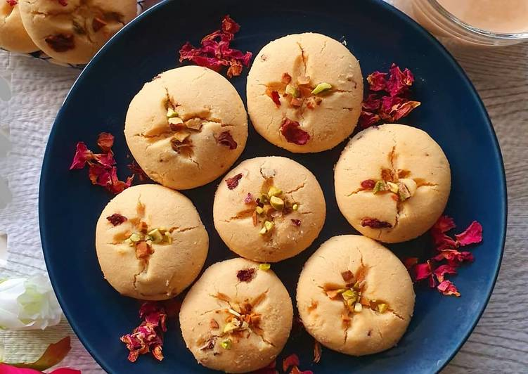 Rose Nankhatai or Short bread biscuits🌹 #bakingcontest
