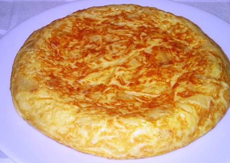 Tortilla De Papas Patatas Light Receta De Marta Cookpad