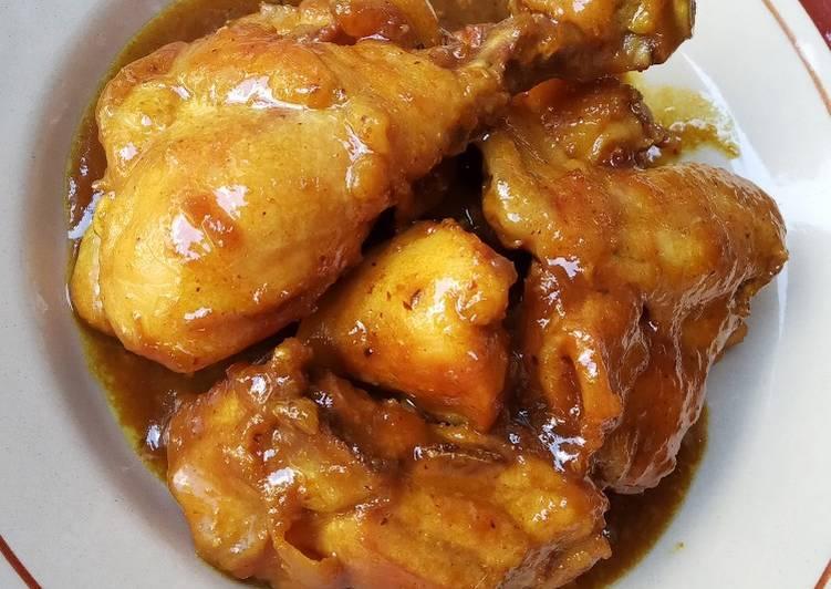 Ayam kecap bumbu kuning