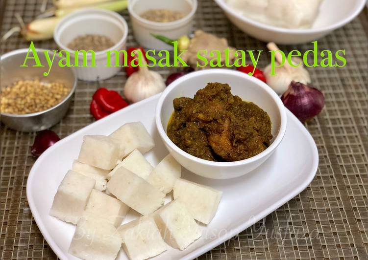 Ayam masak satay pedas - velavinkabakery.com