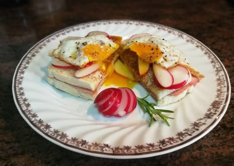 Pan Bimbo templado con huevo y queso light