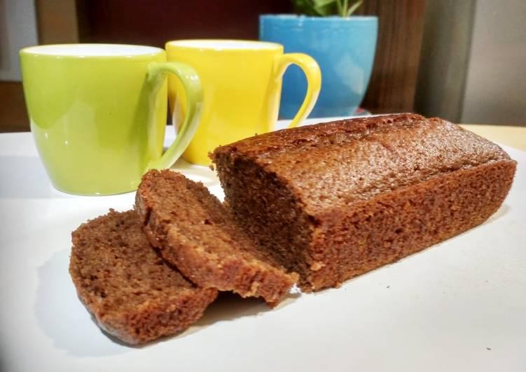 Cappuccino loaf cake (eggless)