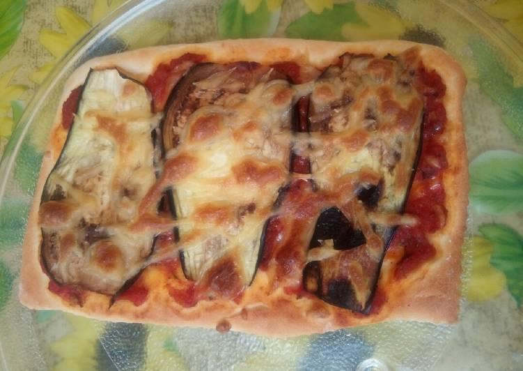 Pizza aux aubergines 🍕 🍆