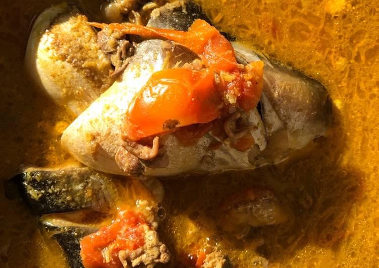Iwak patin gangan asam / ikan patin kuah kuning (masakan kalimantan) khas Mama Dede