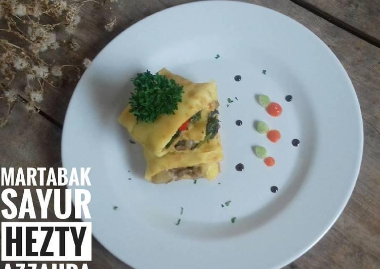 Martabak Telur Teflon (simple isi sayur)