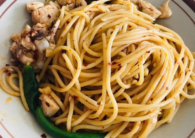 Resepi Speghetti Oglio Olio Ayam