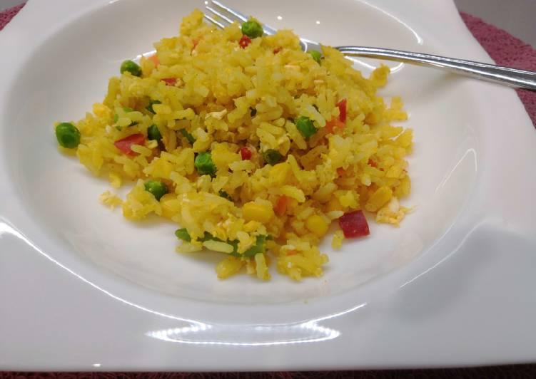 Tojásos rizs mexikói zöldségkeverékkel recept foto
