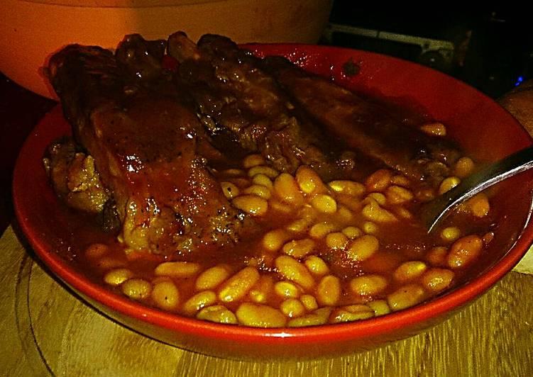 Tex's Easy Bourbon BBQ Ribs & Beans 🐷🍷