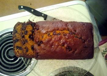 Easiest Way to Recipe Tasty Chocolate chip pumpkin bread