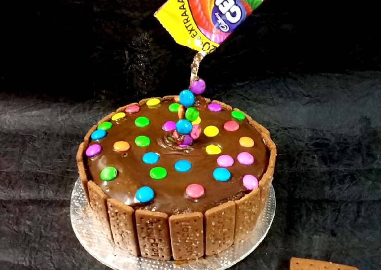 15 Minute Steps to Make Blends Biscuit chocolate gems cake