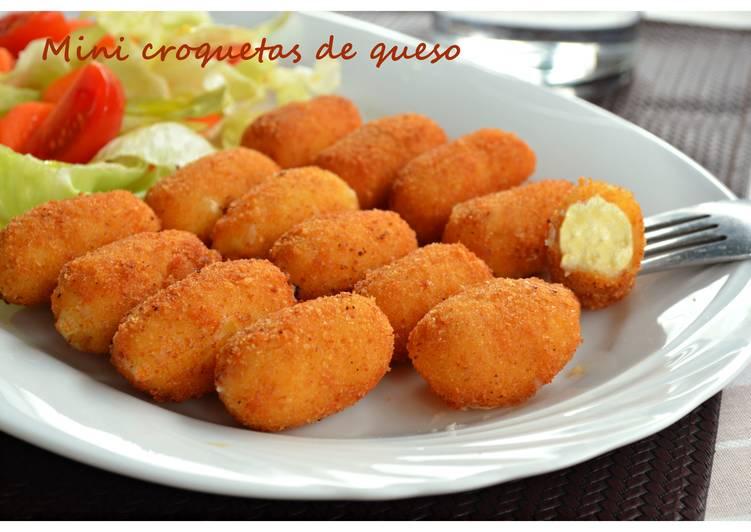 Mini Croquetas De Queso Receta De Pilar Cookpad