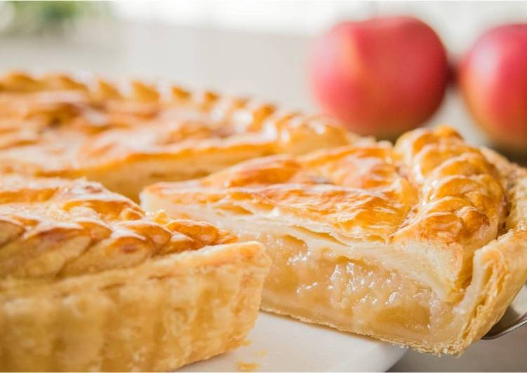 Apple Pie (Puff Pastry Dough)★Recipe video★