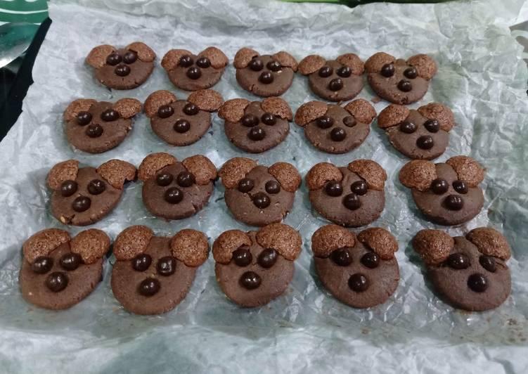 Chocochips panda cookies